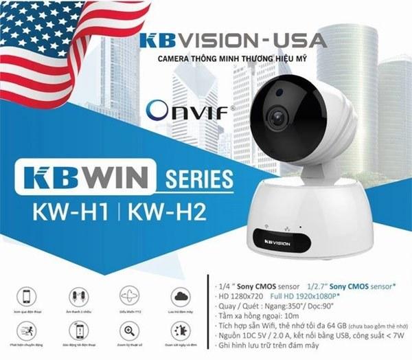 Camera giám sát qua điện thoại ip wifi KBVision