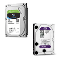HDD Seagate Skyhawk and Western Purple 1TB