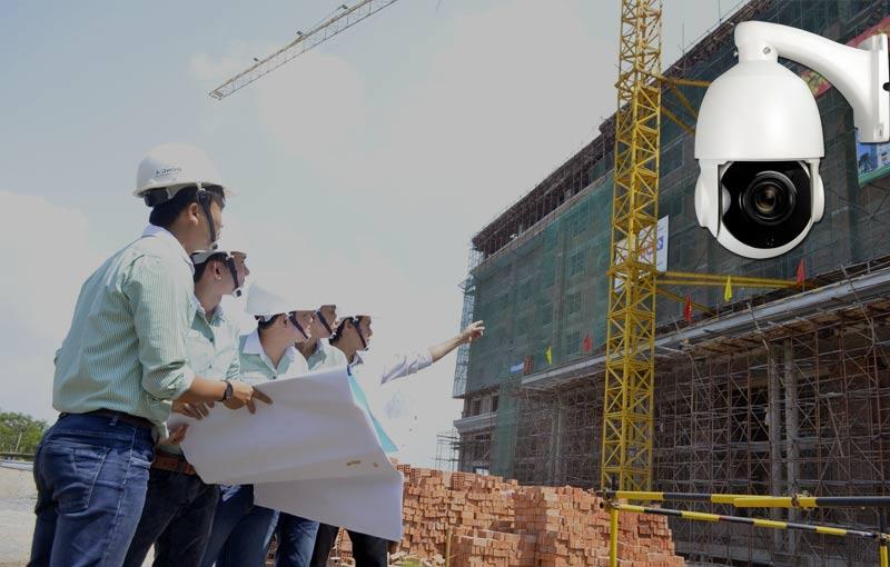 Lắp đặt camera giám sát cho công trình xây dựng