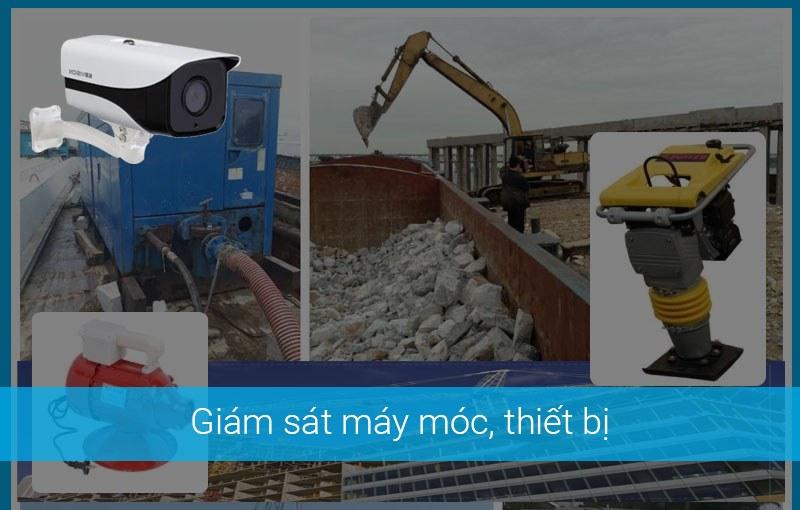 Lắp đặt camera giám sát máy móc thiết bị tại công trình xây dựng