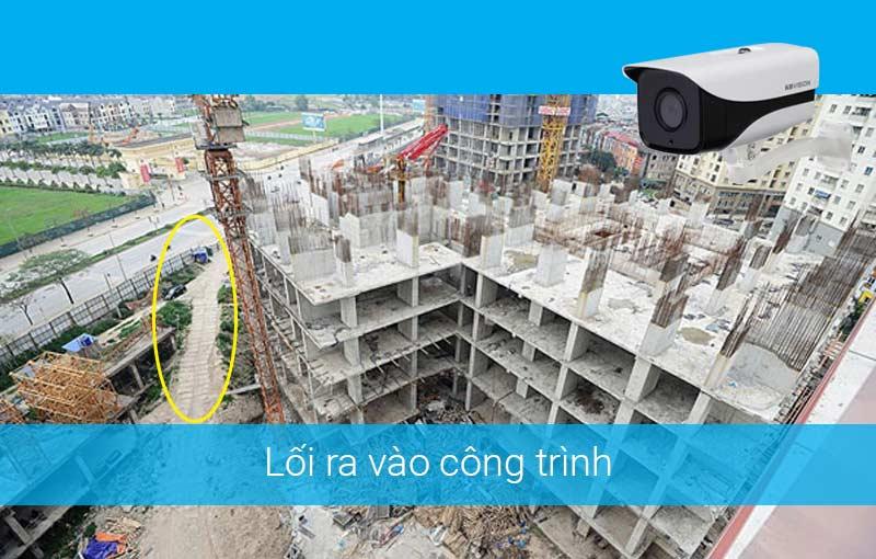 Lắp đặt camera cho công trình xây dựng