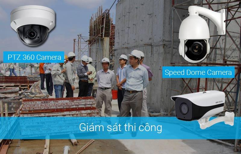 Lắp camera giám sát thi công tại công trình xây dựng