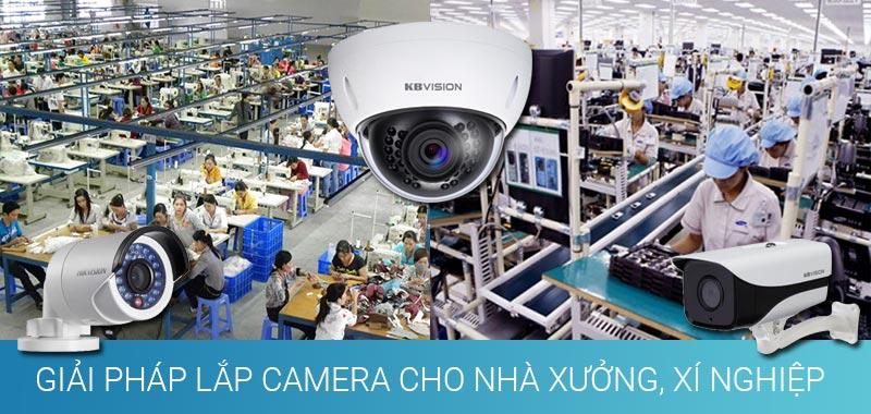 Giải pháp lắp camera cho nhà xưởng, xí nghiệp