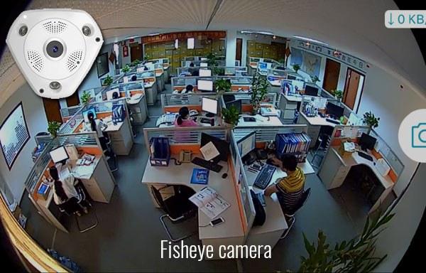 Lắp camera Fisheye cho khu văn phòng nhà máy