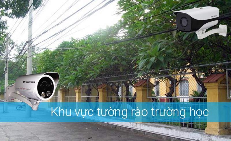 Lắp camera khu tường rào trường học