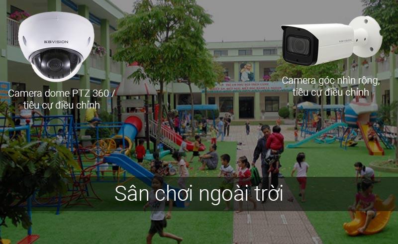 Lắp camera sân chơi ngoài trời cho trường mầm non