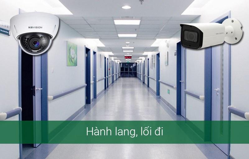 Lắp camera tại hành lang, lối đi của bệnh viện và phòng khám