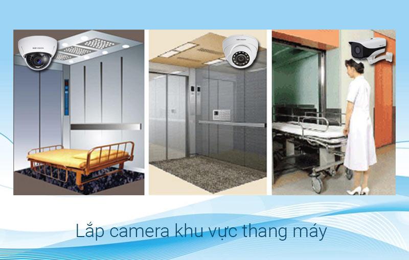 Lắp camera tại khu vực thang máy bệnh viện