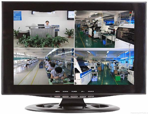 Màn hình camera theo dõi hoạt động sản xuất