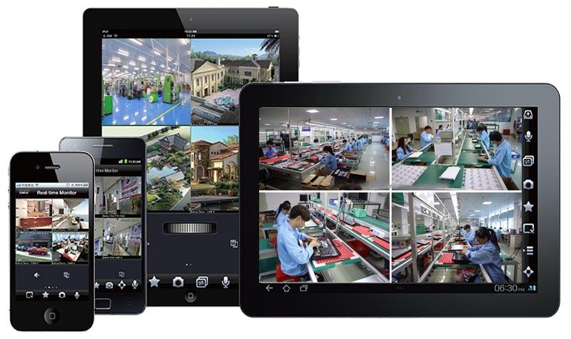Phần mềm theo dõi camera nhà xưởng trên điện thoại
