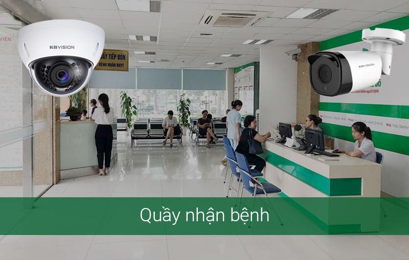 Phương án lắp camera tại quầy tiếp nhận bệnh nhân