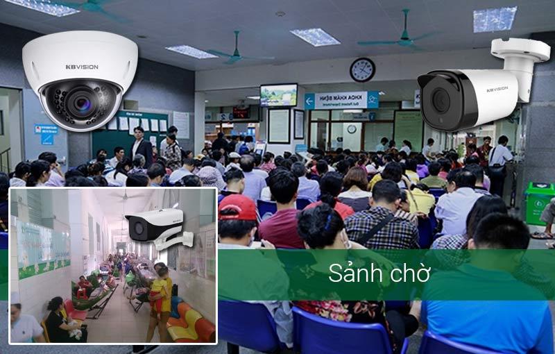 Thiết kế camera tại sảnh chờ của phòng khám, bệnh viện