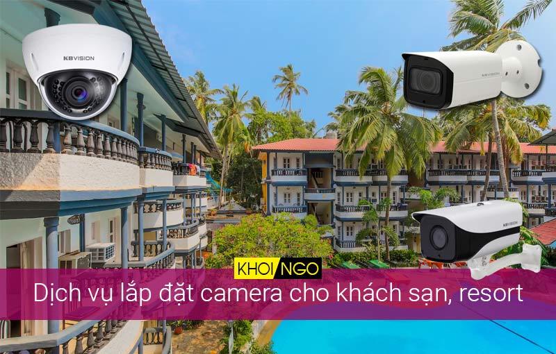 Dịch vụ lắp đặt camera cho khách sạn, resort