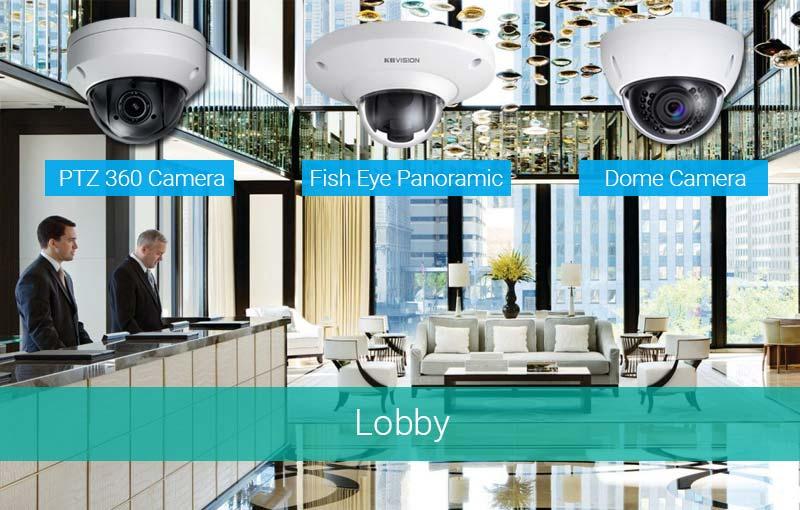Lắp camera tại sảnh Lobby khách sạn