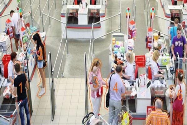 Ứng dụng people counting đo đếm lượt khách ra vào siêu thị, cửa hàng