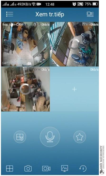 Bắt đầu xem trực tiếp camera KBVision bằng phần mềm KBView Lite