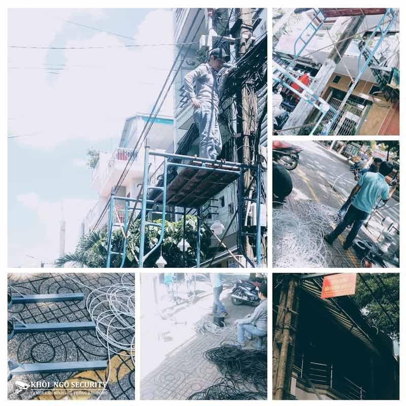 Công trình thi công camera Khu phố đường Thành Công Quận Tân Phú
