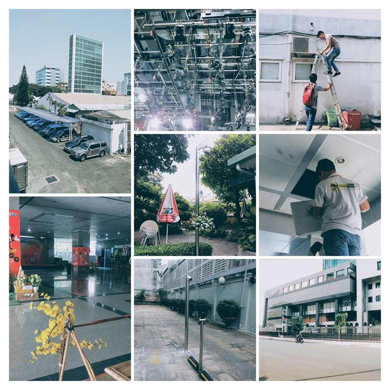 Công trình thi công camera HTV 2020