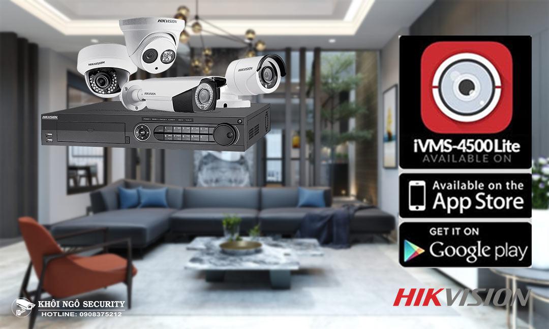 Download và cài đặt iVMS-4500 cho máy tính PC xem camera Hikvision