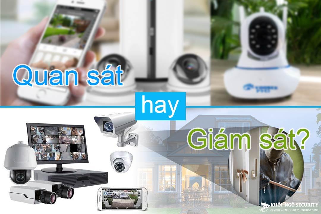 Phân biệt giữa Camera quan sát (CCTV) và Camera giám sát an ninh (Video Surveillance)