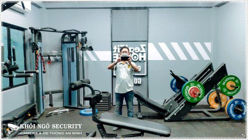 Lắp đặt camera quan sát phòng Gym Zealfit House