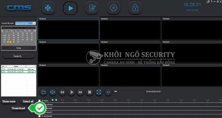 Cách tải file video trên thẻ nhớ camera yoosee về máy tính