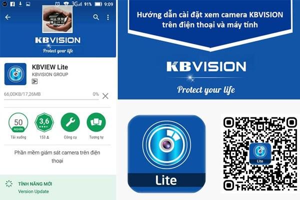 Cài đặt phần mềm xem camera KBView Lite trên điện thoại