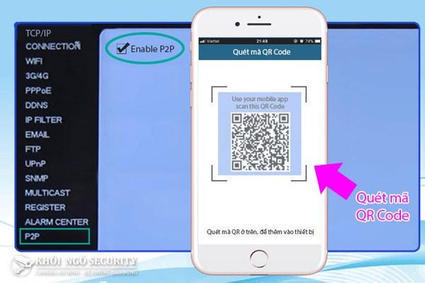 Hướng dẫn cách quét mã QR code của đầu ghi camera