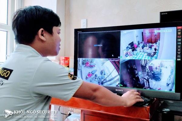 Lên hình hệ thống camera an ninh IP