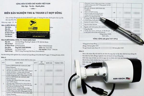 Mẫu biên bản thanh lý hợp đồng lắp đặt camera và nghiệm thu