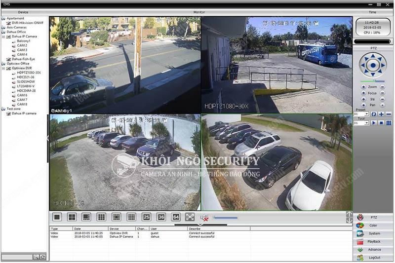 Phần mềm CMS Universal CCTV cho PC