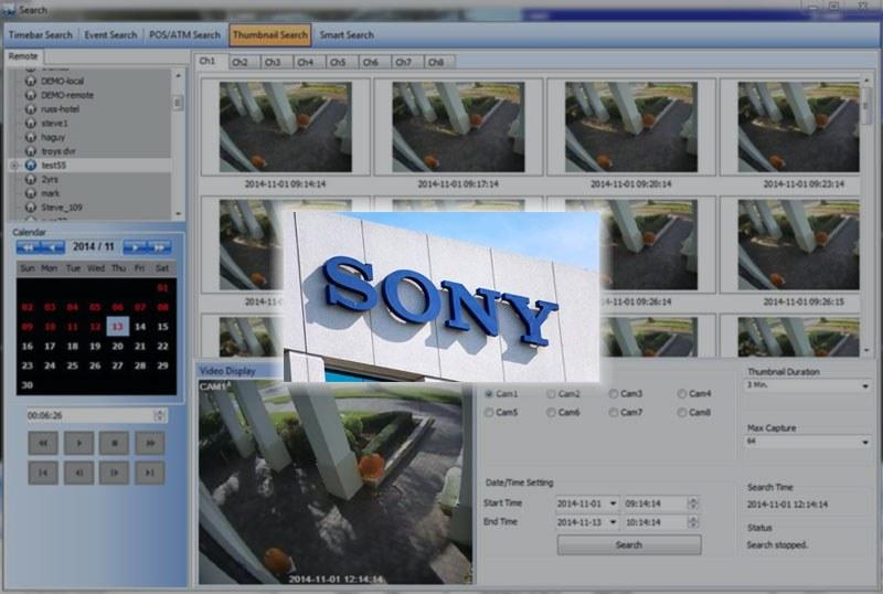 Phần mềm CMS camera Sony cho máy tính NVMS