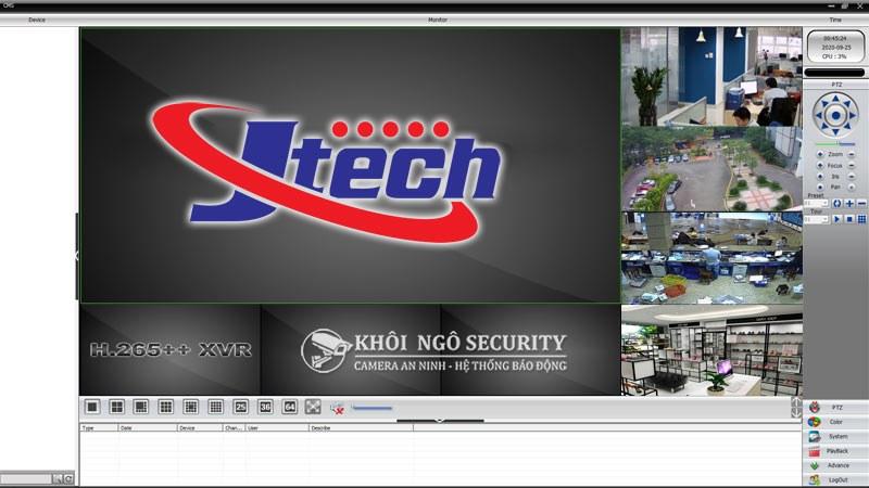 Phần mềm CMS xem camera J-Tech trên máy tính
