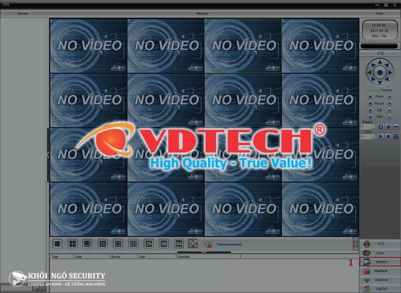 Phần mềm CMS xem camera VDTECH cho máy tính PC