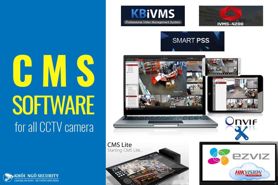 Tổng hợp phần mềm CMS xem camera cho máy tính & điện thoại từ A-Z