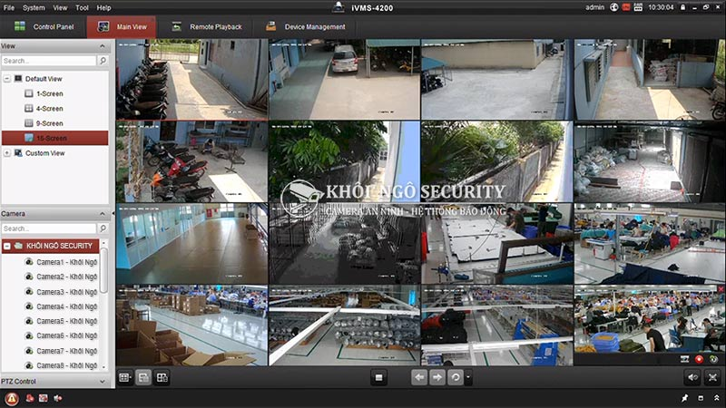 Phần mềm IVMS-4200 CMS camera Hikvision for PC
