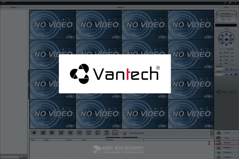 Phần mềm Vantech CMS cho PC