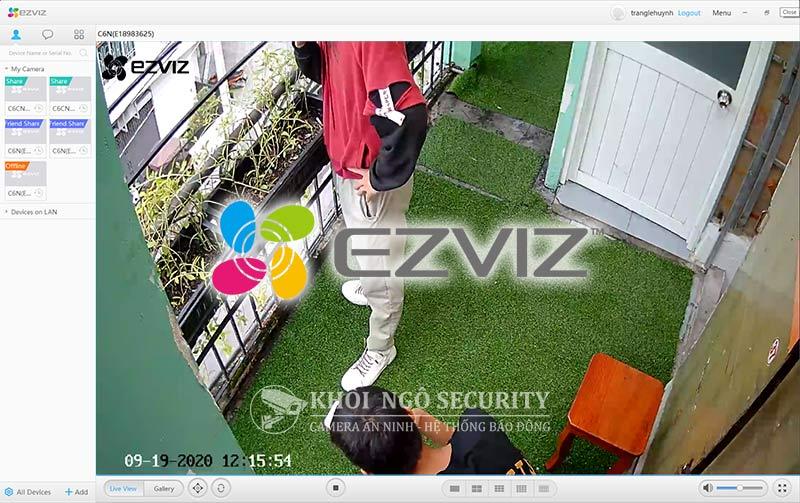 Phần mềm xem camera Ezviz trên máy tính - Ezviz Studio CMS