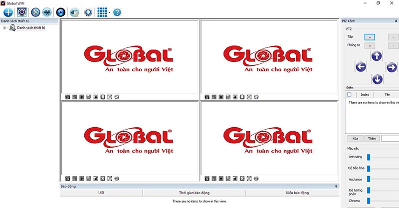 Phần mềm xem camera Global trên máy tính Global-CMS