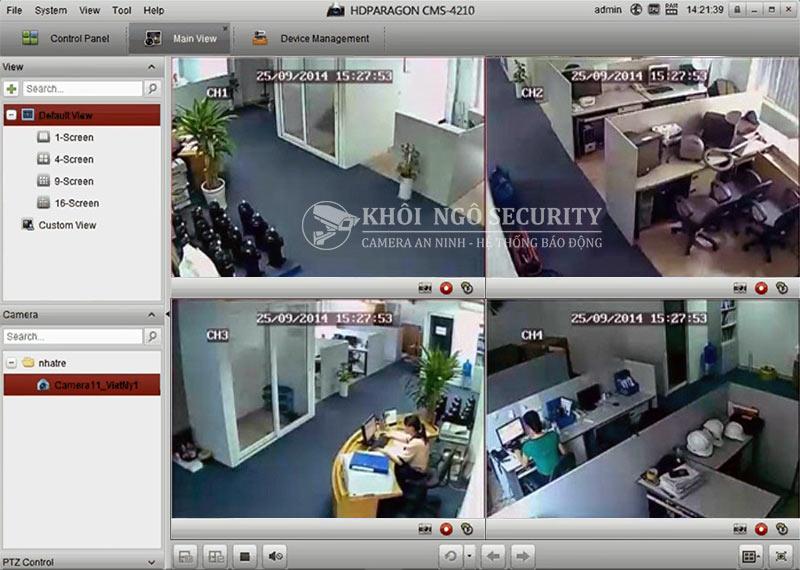 Phần mềm xem camera HDParagon trên máy tính HDPARAGON CMS 4210
