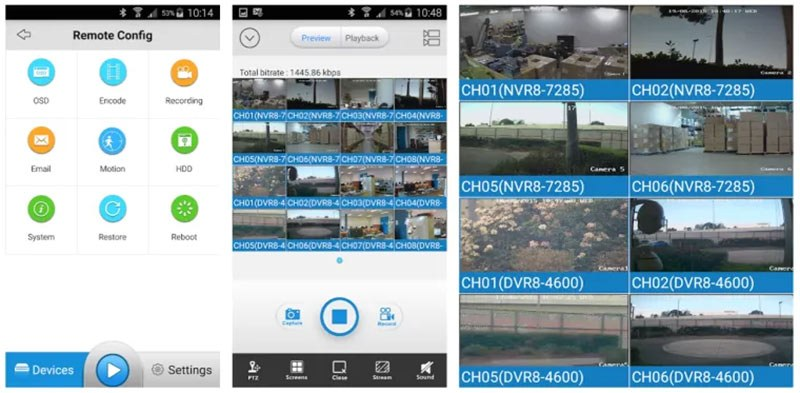 SwannViewLink CMS camera cho điện thoại
