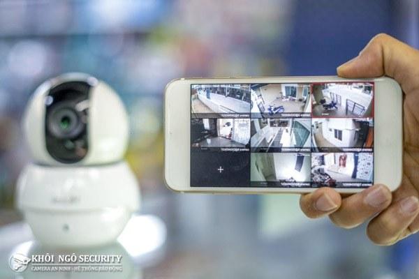 Test đảm bảo xem camera được qua mạng