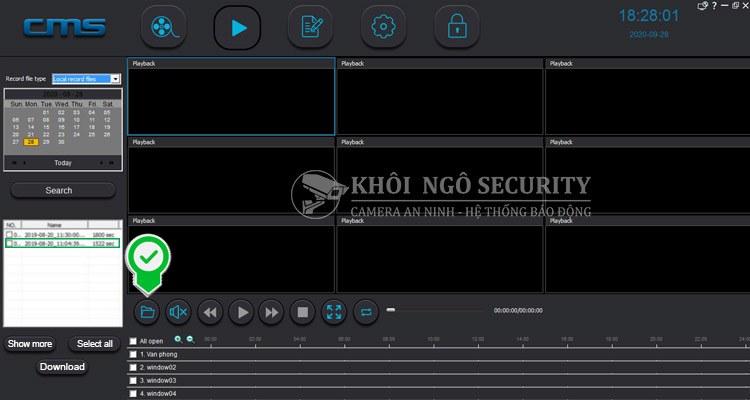 open playback download folder yoosee camera