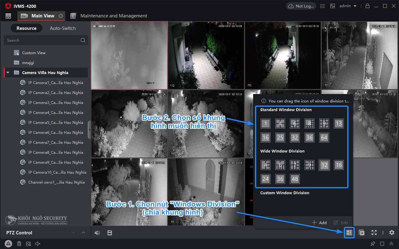 Cách chỉnh số khung hình camera trên iVMS-4200