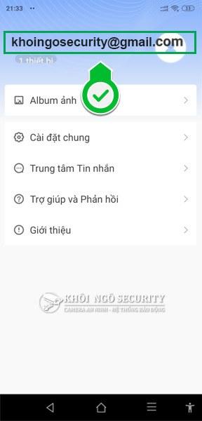 Cách tìm email hoặc số điện thoại đã đăng ký Yoosee