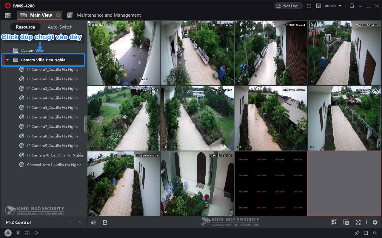 Cách xem camera Hikvision trên iVMS-4200 PC bằng tên miền