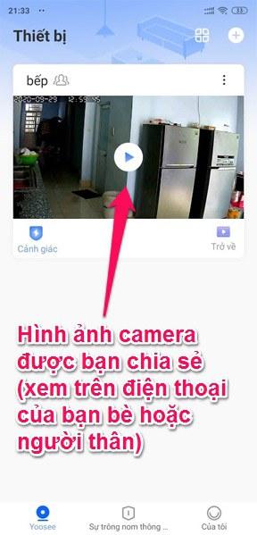 Hình ảnh camera Yoosee sau khi chia sẻ qua Email