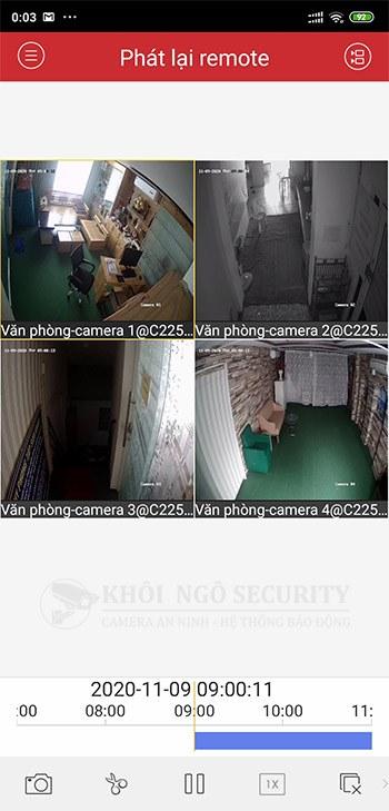 Cách Playback xem lại camera Hikvision với iVMS-4500 trên điện thoại