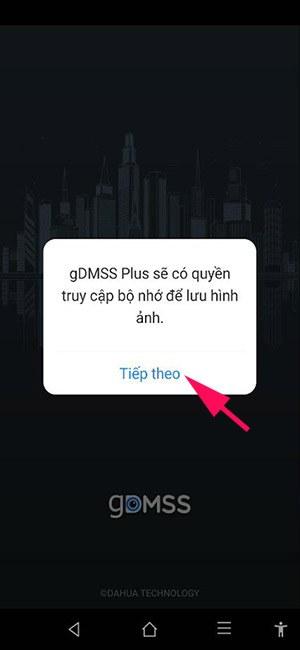 Cấp quyền cho phần mềm gDMSS Plus
